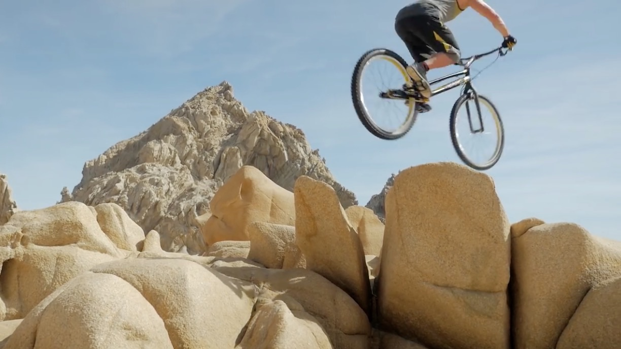 Riding Mountain Bike Trials at the Cabo Arch – Video