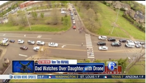 Tennessee Father Uses Drone To Follow Daughter to School