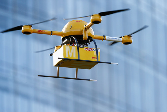 DHL is among many package delivery services that are testing drone delivery applications.
