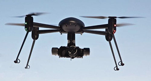 Figure 1. Dragan Flyer X4-ES Multirotor UAV equipped with a FLIR (Forward Looking InfraRed) camera.