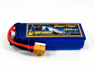 Giant Power 2S 2800mAh 11.1V 25C high performance LiPo battery