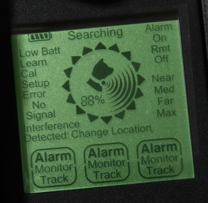 This is the display screen on the tracking device.