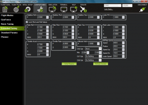 MultiRotor Pilot Magazine - HobbyKing X900 Tricopter Mission Planner Software - Extended Tuning