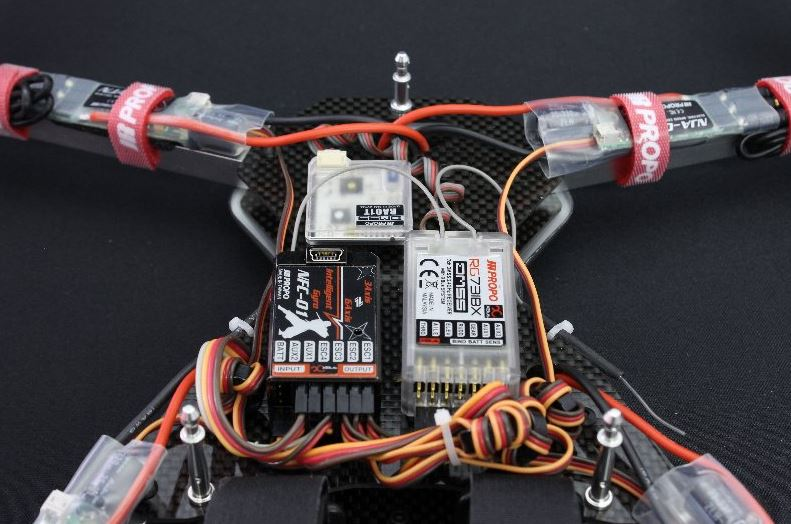 Multicopter NINJA 400MR internals2