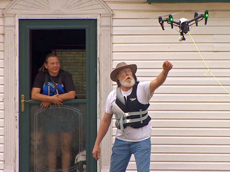 Drone Pilot Rescues Flood Victims