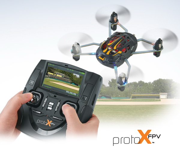 Good Morning America's George Stephanopoulos and Paula Faris flew the Proto-X FPV live in the studio on Wednesday, February 4.