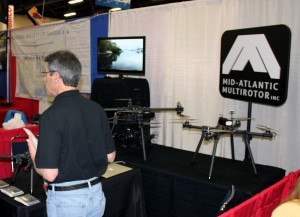 Lou Galzerano, President of Mid-Atlantic Multirotor, was busy talking with hundreds of attendees all weekend long.